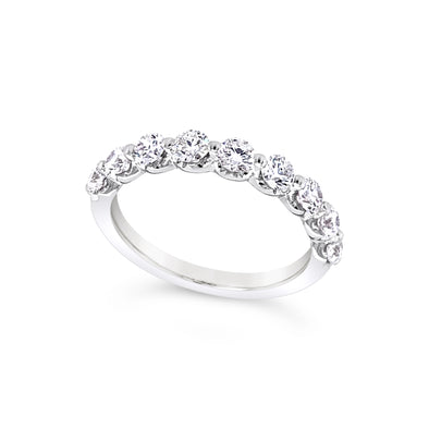 Scalloped Design Round Diamond Wedding Band - 1.00 carat t.w.