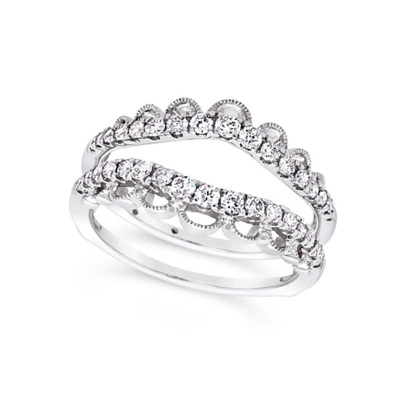 Tapered Design Diamond Ring Guard