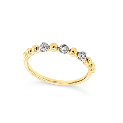 Diamond Accented Stackable Ring