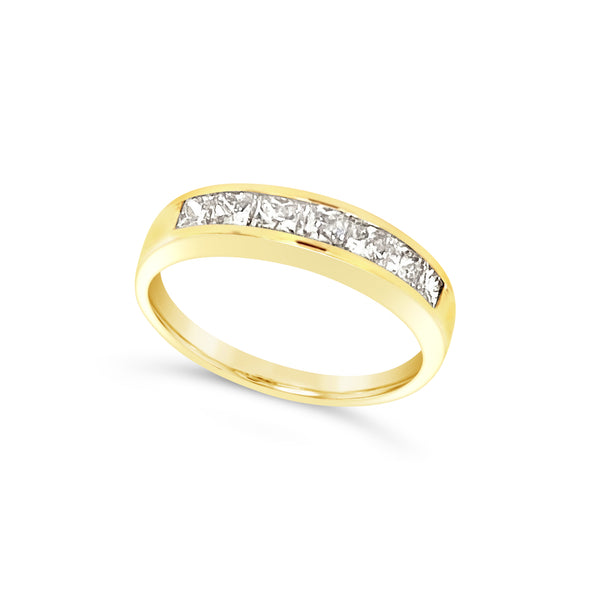 Princess Cut Channel Set Wedding Band - .61 carat t.w.