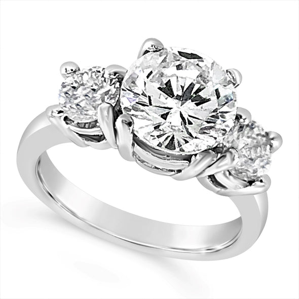 Platinum Two Stone Engagement Mounting