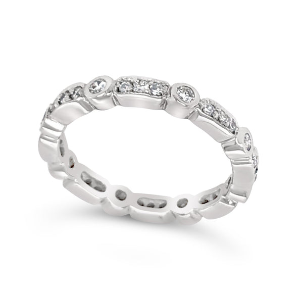 Diamond Tapered Design Eternity Band