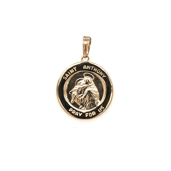 Round St. Anthony Medal - 14kt Yellow Gold