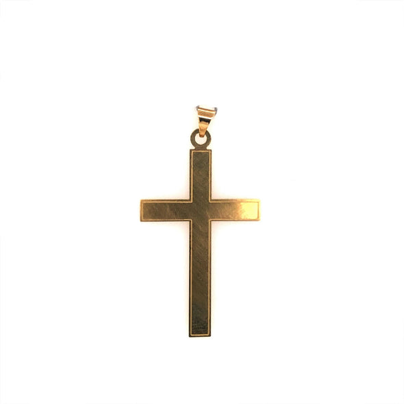 Large Plain Cross - 14kt Yellow Gold