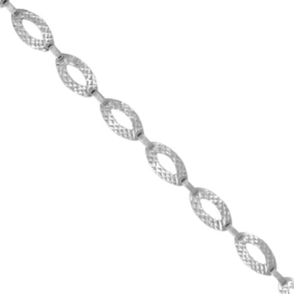 Hammered Finish Open Link Design Bracelet