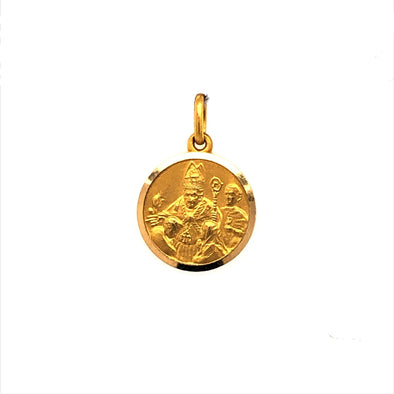 Round Confirmation Medal - 18kt Yellow Gold