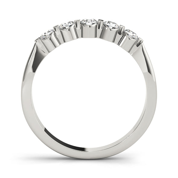 Bezel and Bar Set Diamond Wedding Band