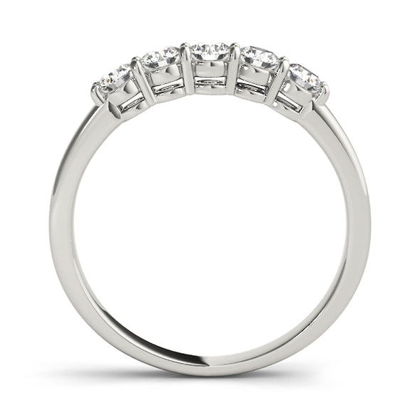 Straight Prong Set Diamond Wedding Band