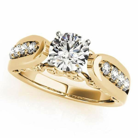Channel Set Diamond Engagement Mounting with Side Detail