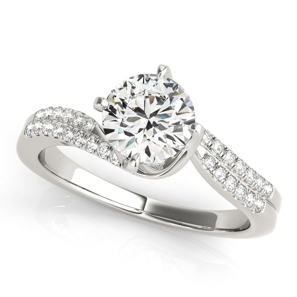 Double Row Swirl Style Diamond Engagement Mounting