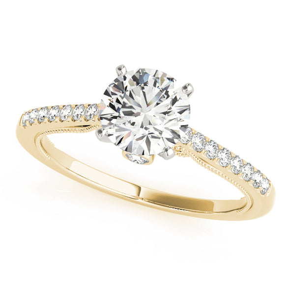 Single Row Diamond Engagement Mounting