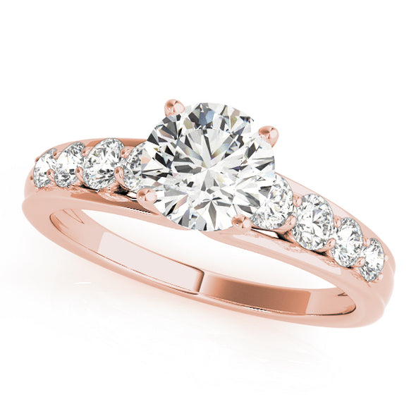 Eight Round Diamond Engagement Mounting