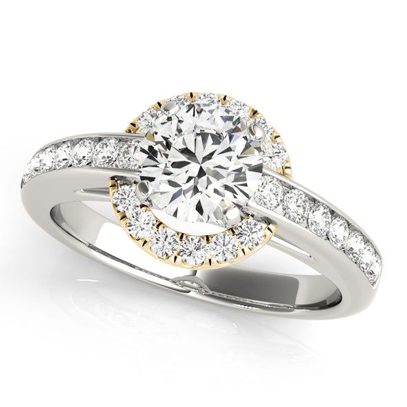 Channel Set Diamond and Round Halo Engagement Mounting
