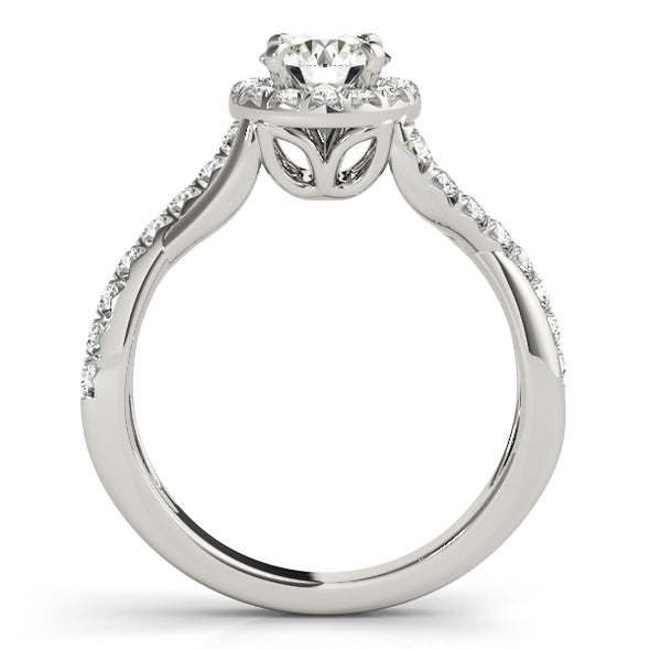 Diamond Halo and Cross Over Engagement Mounting
