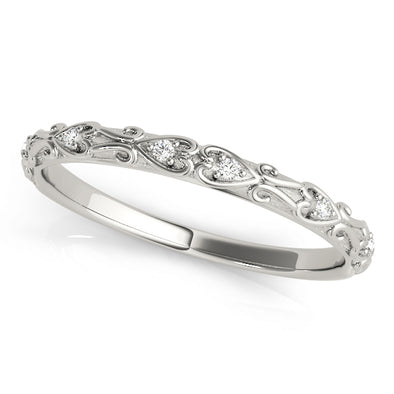 Vintage Style Diamond Wedding Band