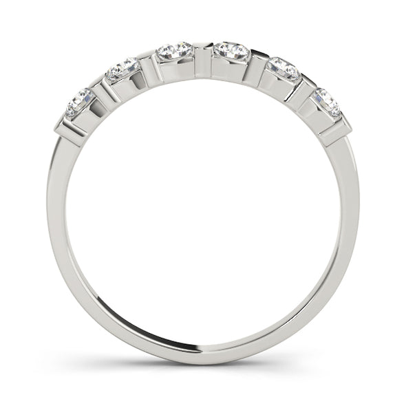 Six Diamond Bar Set Wedding Band