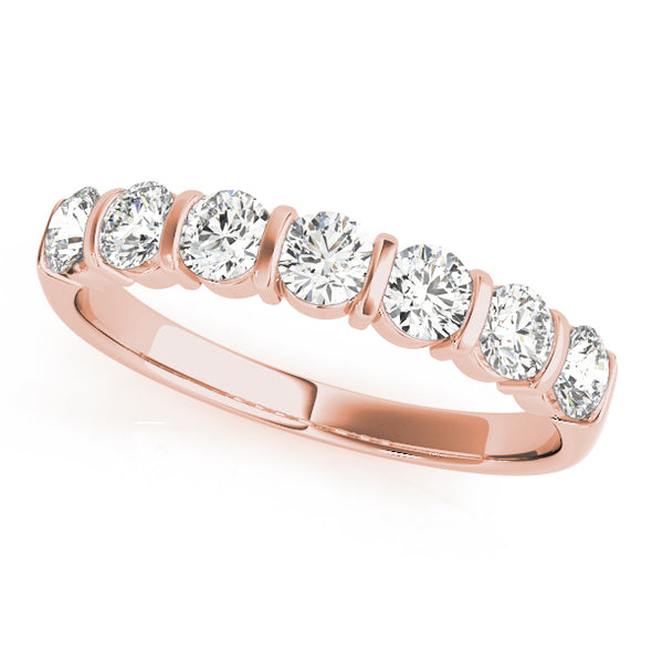Seven Diamond Bar Set Wedding Band