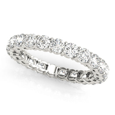 Round Diamond Eternity Wedding Band