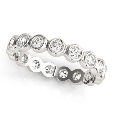 Bezel Set Round Diamond Eternity Wedding Band