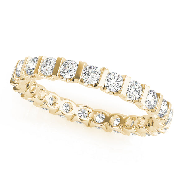 Bar Design Diamond Eternity Wedding Band