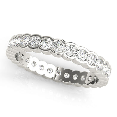 Half Bezel Set Diamond Eternity Wedding Band