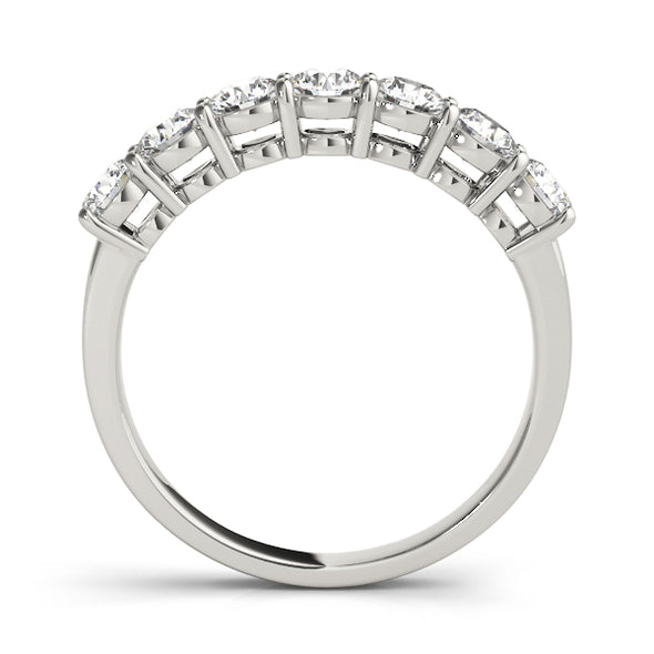 Straight Bar Prong Diamond Wedding Band