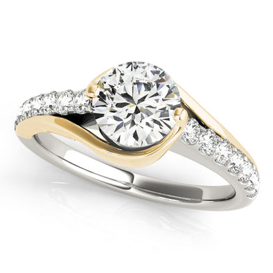 Bypass Swirl Design Diamond Engagement Mounting