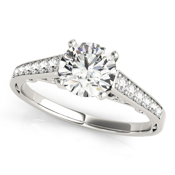 Channel Set Diamond and Engraved Detail Engagement Mounting