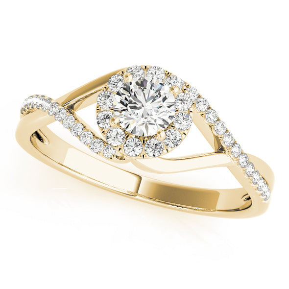 Open Swirl Design Diamond Engagement Mounting