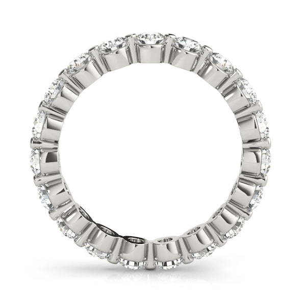 Single Shared Prong Diamond Eternity Wedding Band