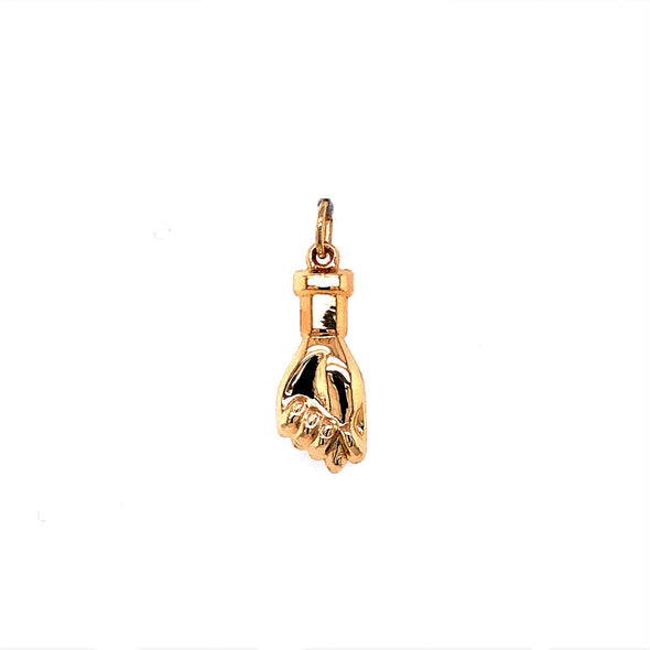 Fist with Thumb Charm - 14kt Yellow Gold