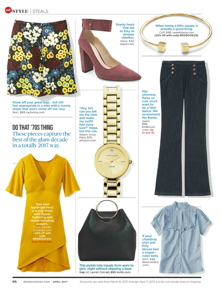 Redbook Magazine Style Steals page featuring the Cubik Cuff by Sweet Hyena