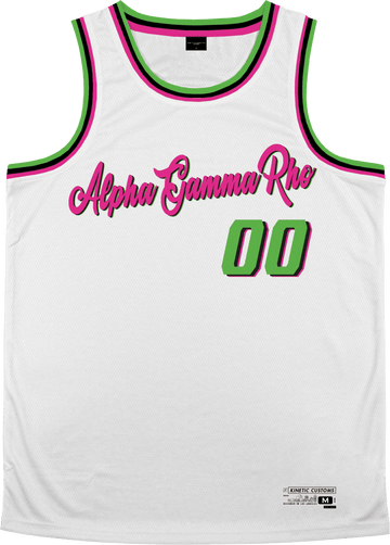 Alpha Gamma Rho - Bubble Gum Basketball Jersey - Kinetic Society