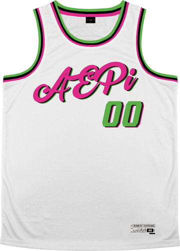 Alpha Epsilon Pi - Bubble Gum Basketball Jersey Premium Basketball Kinetic Society LLC