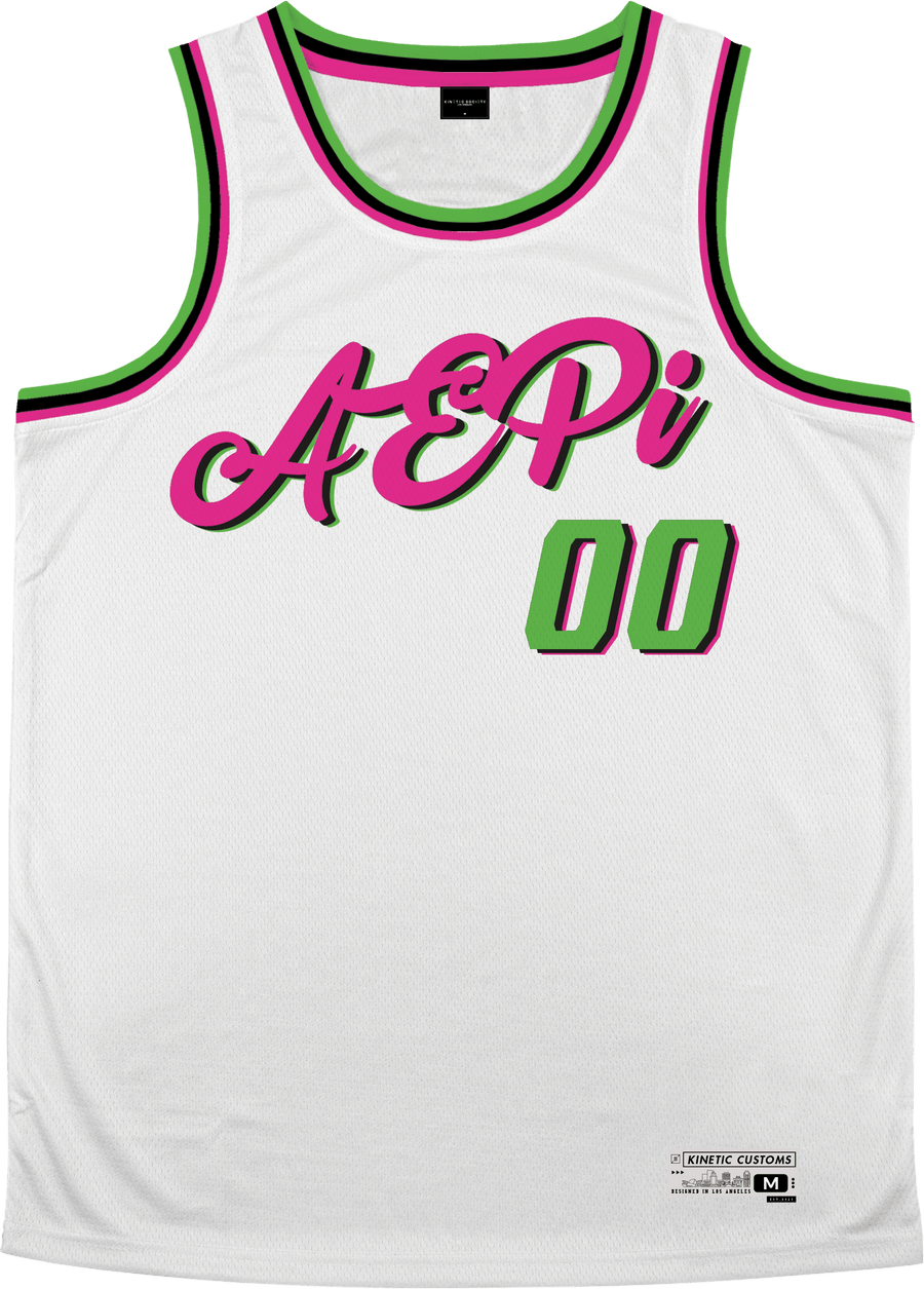 Alpha Epsilon Pi - Bubble Gum Basketball Jersey - Kinetic Society