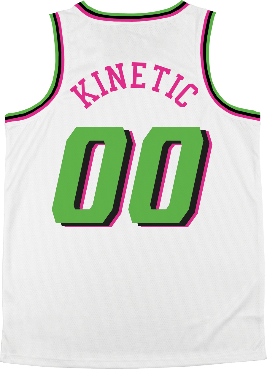 Delta Upsilon - Bubble Gum Basketball Jersey Premium Basketball Kinetic Society LLC