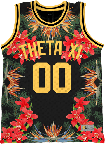 Theta Xi - Orchid Paradise Basketball Jersey - Kinetic Society