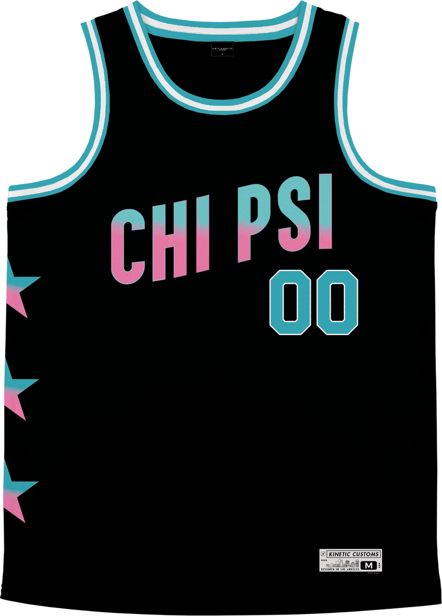 Chi Psi - Cotton Candy Basketball Jersey Premium Basketball Kinetic Society