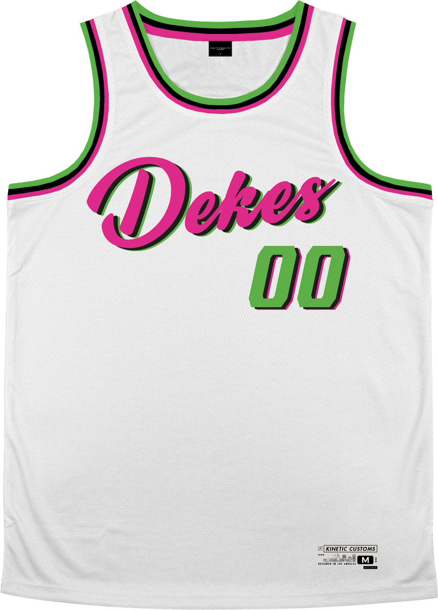 Delta Kappa Epsilon - Bubble Gum Basketball Jersey Premium Basketball Kinetic Society LLC