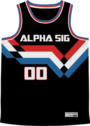 Alpha Sigma Phi - Victory Streak Basketball Jersey - Kinetic Society