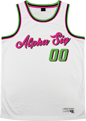 Alpha Sigma Phi - Bubble Gum Basketball Jersey - Kinetic Society