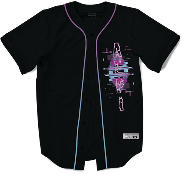 Alpha Epsilon Pi - Glitched Vision Baseball Jersey - Kinetic Society