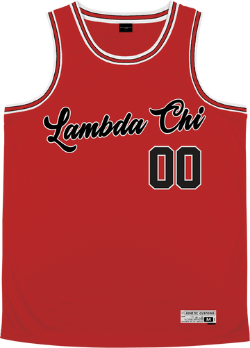 Lambda Chi Alpha - Big Red Basketball Jersey Premium Basketball Kinetic Society LLC