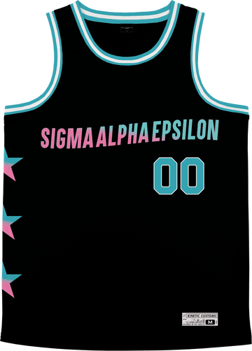 Sigma Alpha Epsilon - Cotton Candy Basketball Jersey Premium Basketball Kinetic Society