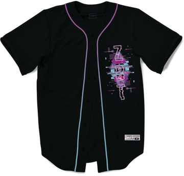 Zeta Beta Tau - Glitched Vision Baseball Jersey Premium Baseball Kinetic Society LLC