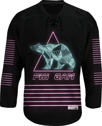 Phi Gamma Delta - Neon Polar Bear Hockey Jersey Hockey Kinetic Society LLC