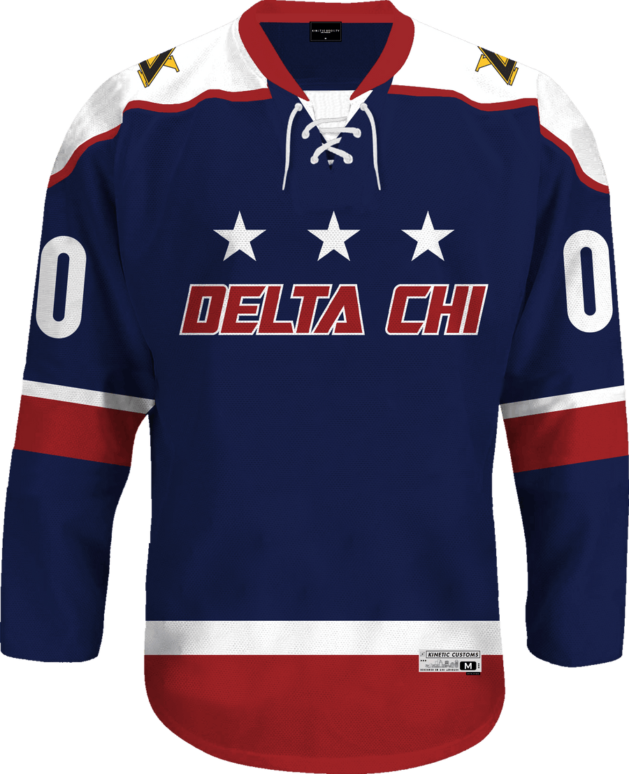 Delta Chi - Fame Hockey Jersey Hockey Kinetic Society LLC