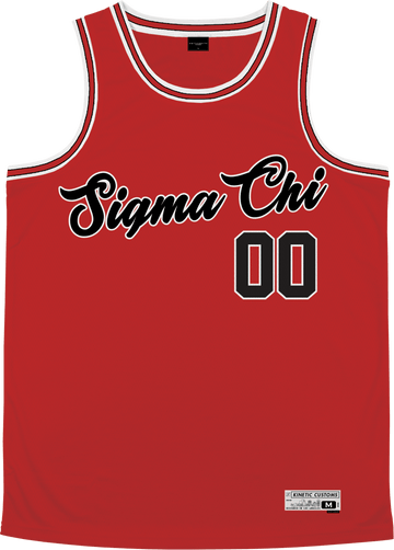 Sigma Chi - Big Red Basketball Jersey - Kinetic Society