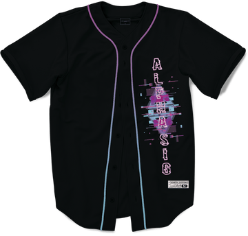 Alpha Sigma Phi - Glitched Vision Baseball Jersey - Kinetic Society