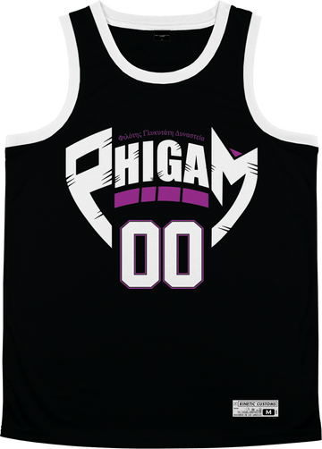Phi Gamma Delta - Hustler Basketball Jersey Premium Basketball Kinetic Society LLC Sublimation Print